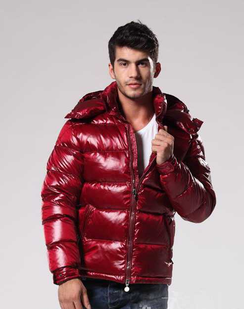 Moncler Maya Winter Mens Down Jacket Fabric Smooth Dark Red