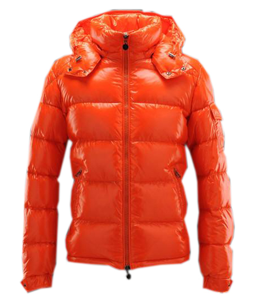Moncler Maya Winter Mens Down Jacket Fabric Smooth Orange