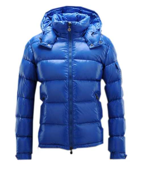 Moncler Maya Winter Mens Down Jackets Fabric Smooth Blue