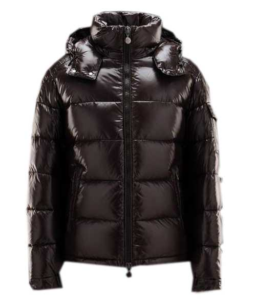 Moncler Maya Winter Mens Down Jackets Fabric Smooth Brown