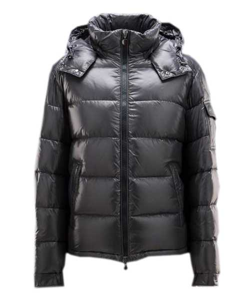 Moncler Maya Winter Mens Down Jackets Fabric Smooth Grey