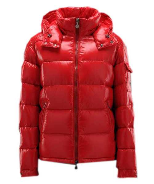 Moncler Maya Winter Mens Down Jackets Fabric Smooth Red