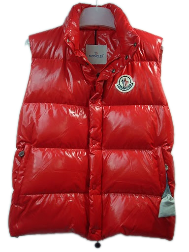 Moncler Men Vest Sleeveless - Quilted Warmer Body Red