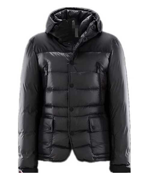 Moncler Mens Jackets Down Breasted Style Classic Black