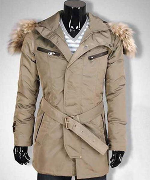 Moncler Mens Long Coat Cream Down
