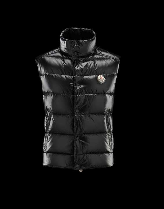 Moncler Mens Tibet Down Vest Black