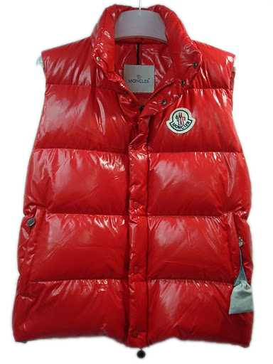 Moncler Mens Vest Sleeveless Quilted Warmer Body Red
