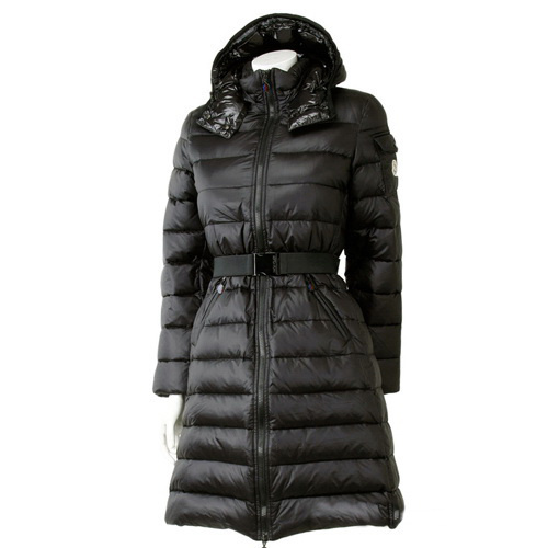 Moncler Moka Long Down Coats Women Black