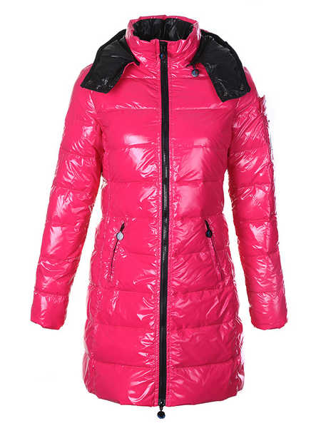 Moncler Moka Long Down Coats Women Pink