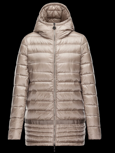 Moncler NARLAY Women Winter Coat Beige Hooded