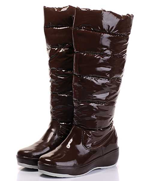 Moncler Nible Boots Women Glossy Coffee Tall Casual
