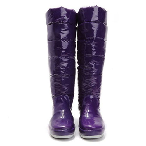 Moncler Nible Quilted Purple Boots
