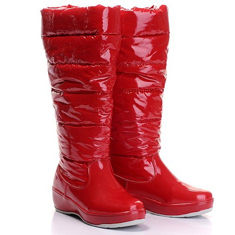 Moncler Nible Quilted Red Boots