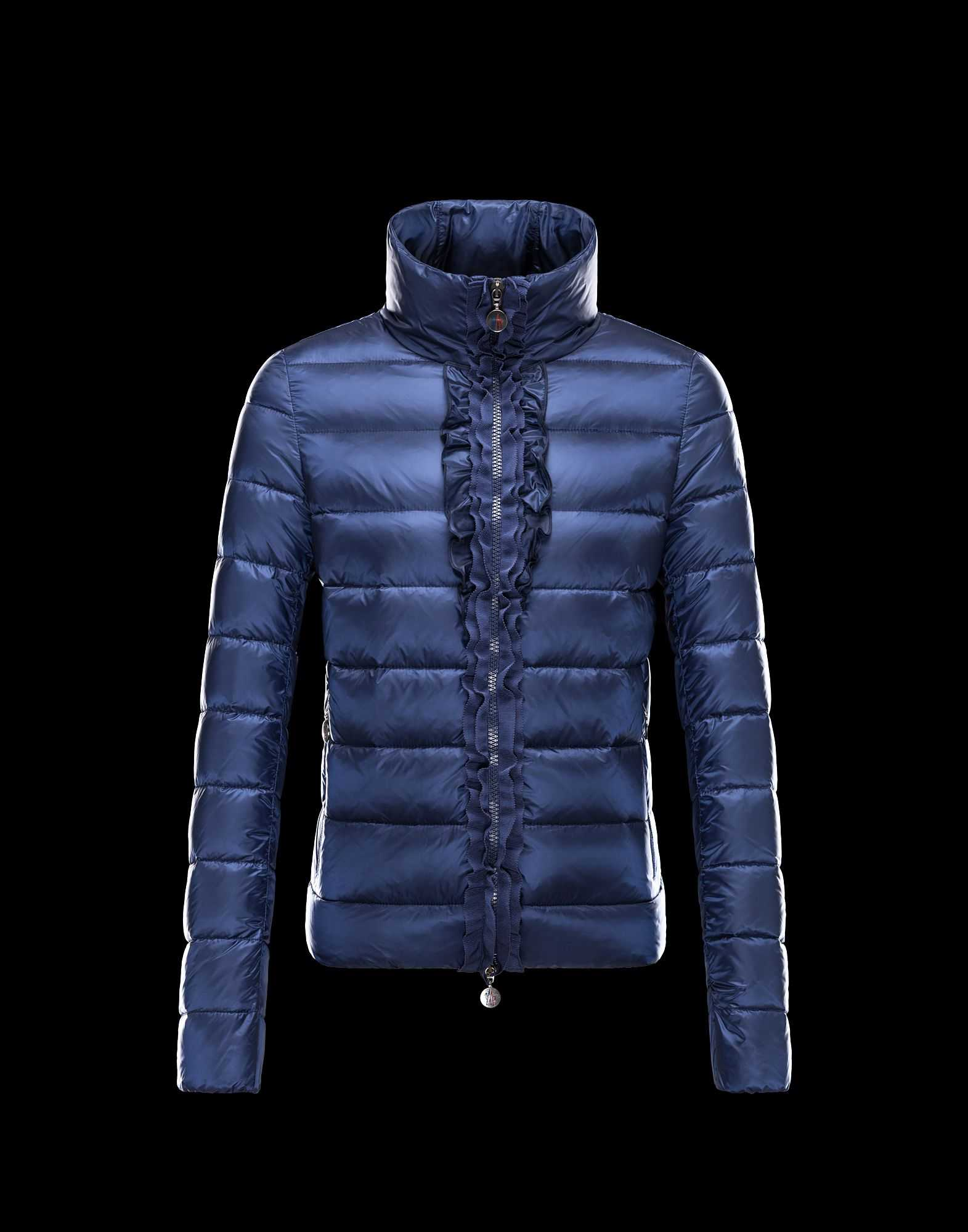 Moncler OXALIS Down Jackets Women Collar Blue