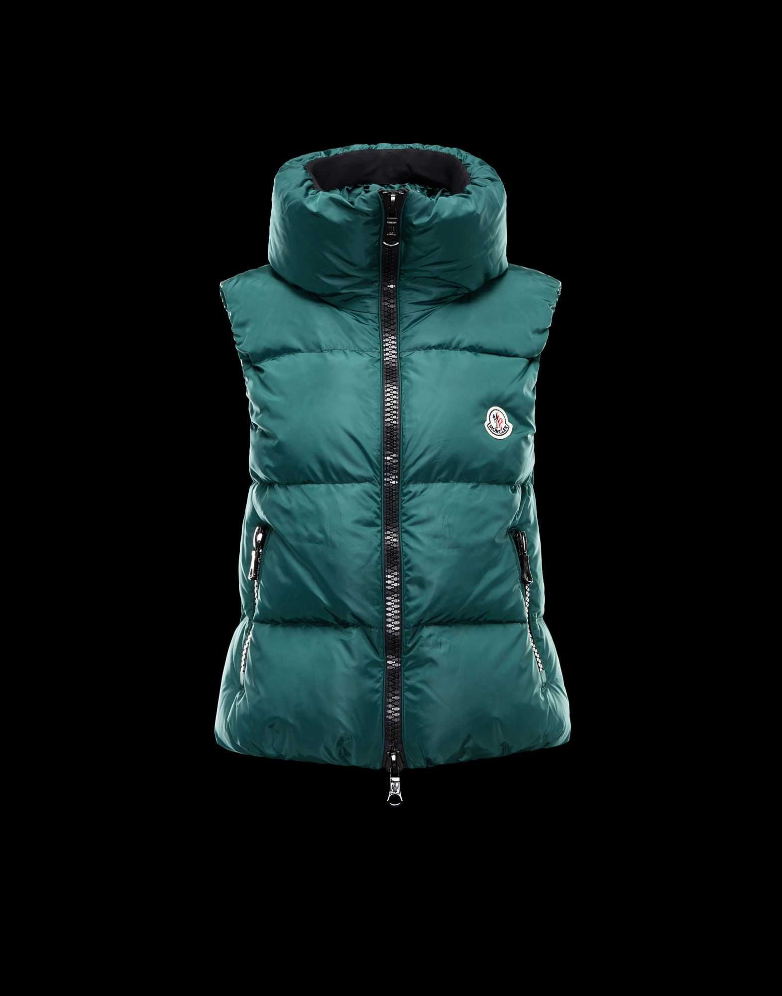 Moncler PETY Women Down Vests Green