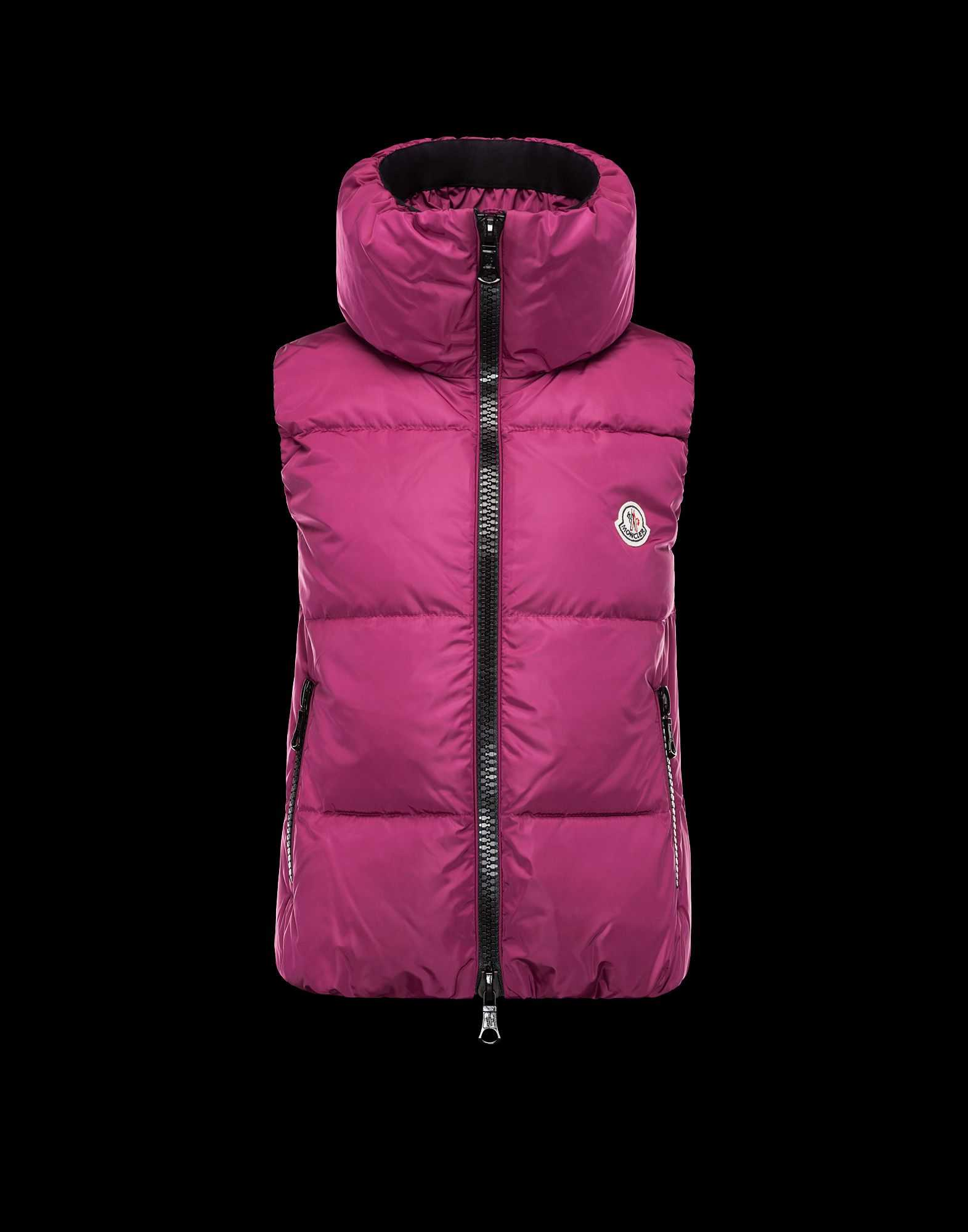 Moncler PETY Women Down Vests Mauve