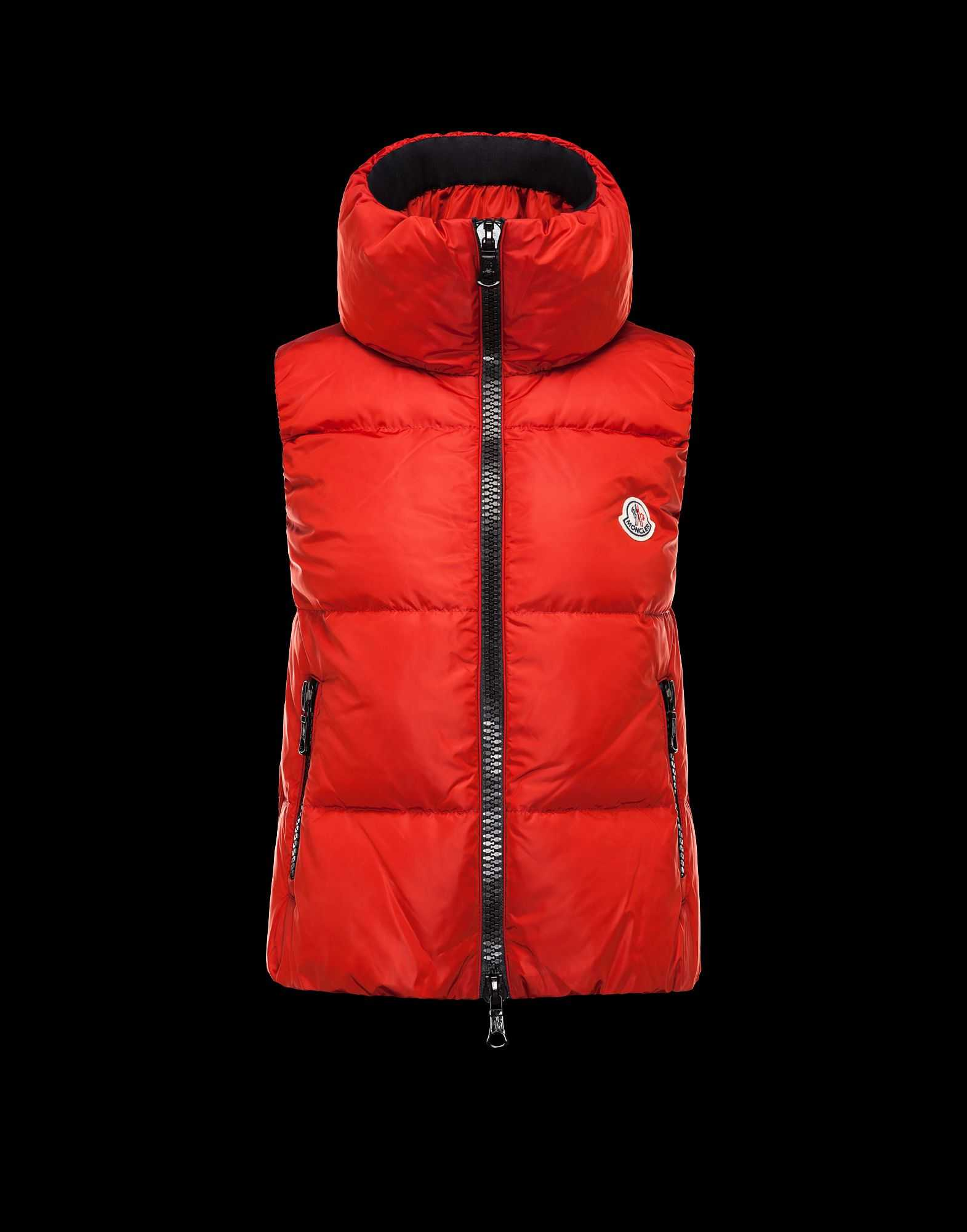 Moncler PETY Women Down Vests Red