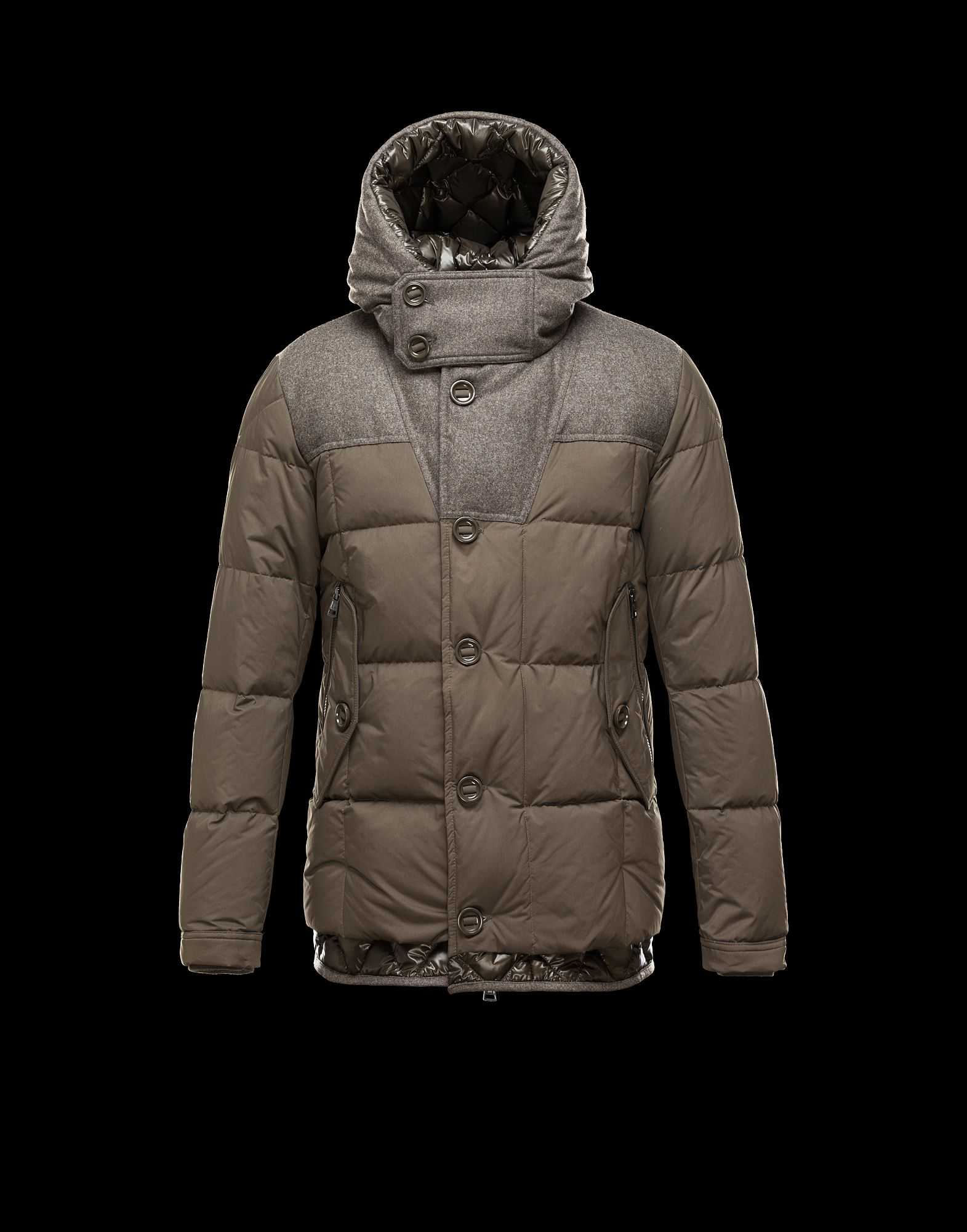 Moncler PYRENEES Jackets For Mens Hooded Army Green