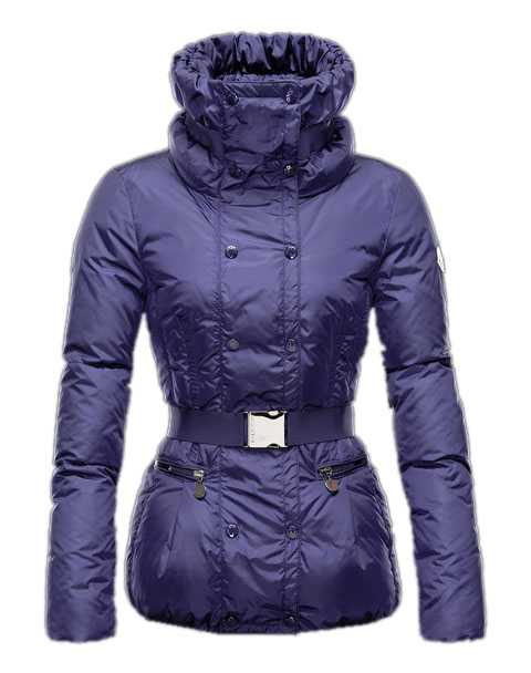 Moncler Phalene Women Jackets Collar Decorative Belt Blue