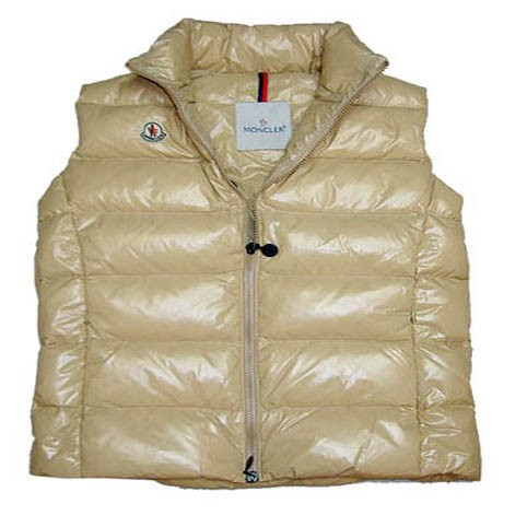 Moncler Quilted Body Warmer Beige Vest Women