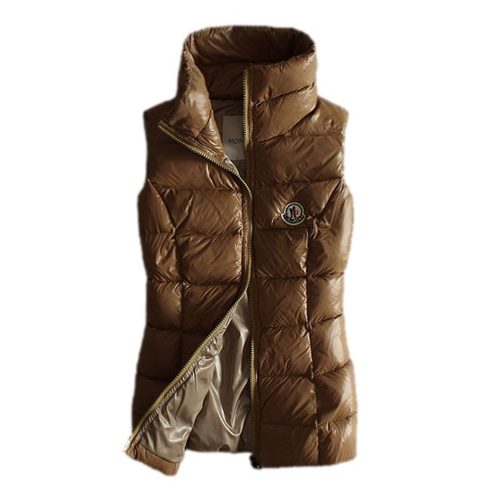 Moncler Quilted Body Warmer Camel Vest Women