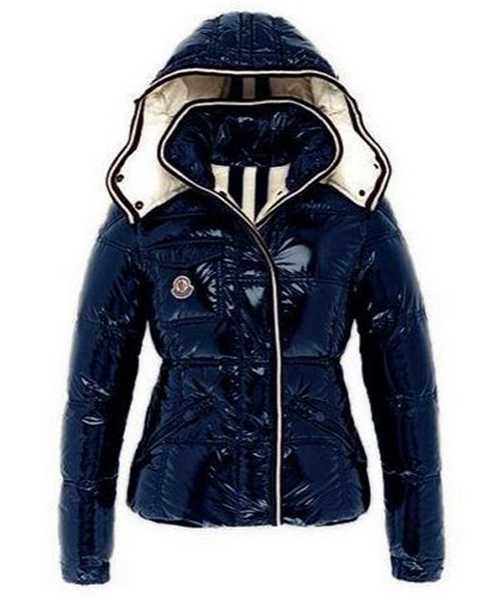 Moncler Quincy Classic Down Jackets For Women Button Blue