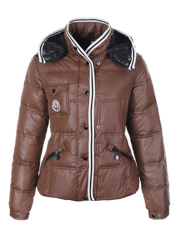 Moncler Quincy Classic Down Jackets For Women Button Khaki
