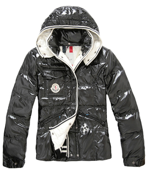 Moncler Quincy Women Down Jackets With Hat Black Short