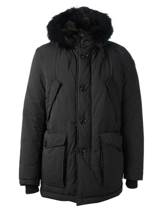Moncler Rethel Coat For Men Black