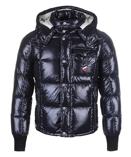 Moncler Reynold Featured Mens Down Jackets Black