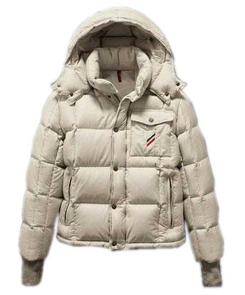 Moncler Reynold Featured Mens Down Jackets Cream Colored