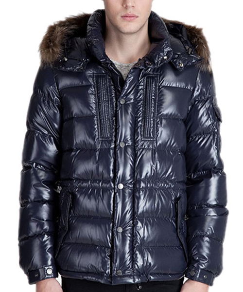 Moncler Rod Coat Down Men Navy Blue