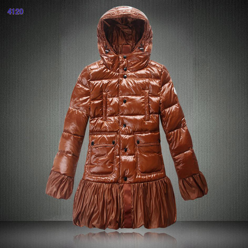 Moncler S Ernst Collection Long Women Downs Jackets Brown