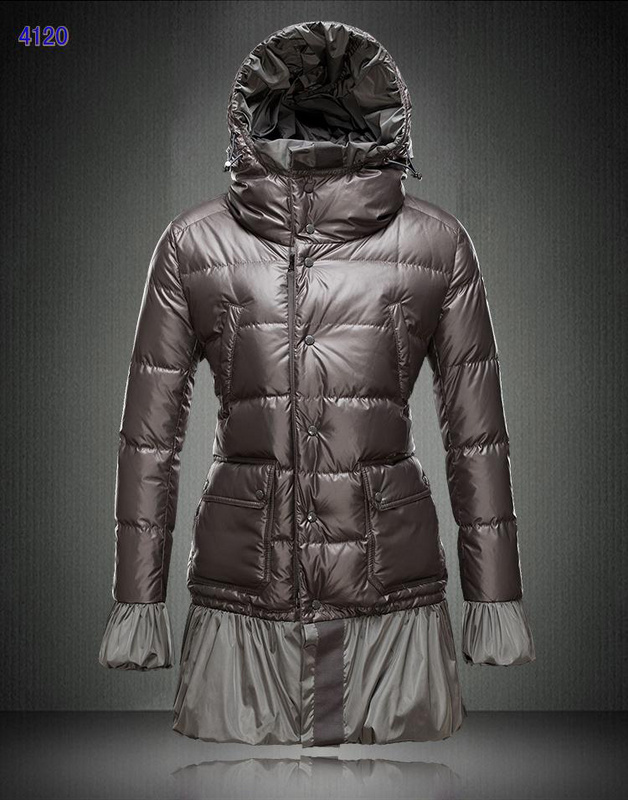 Moncler S Ernst Collection Long Women Downs Jackets Coffee