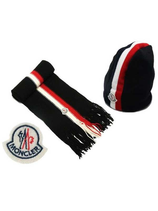 Moncler Scarf And Caps Generous Black