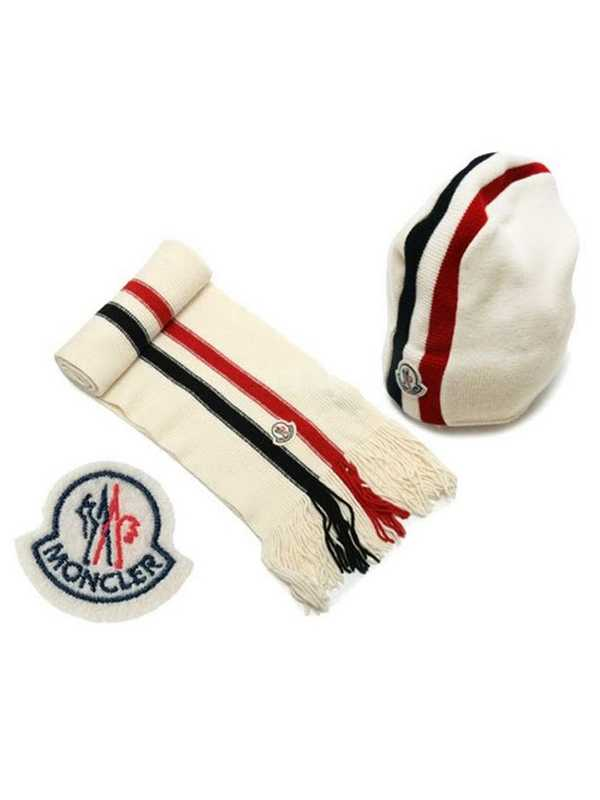 Moncler Scarf And Caps Generous White
