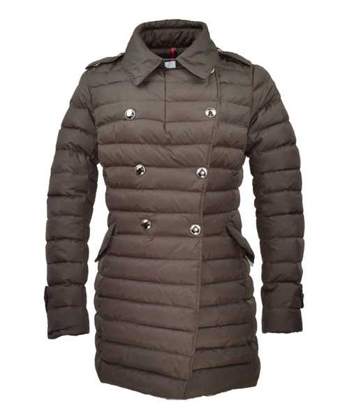 Moncler Seon Euramerican Style Coat For Women Coffee