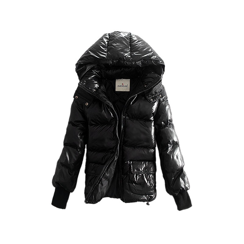 Moncler Short Down Black Jacket Women
