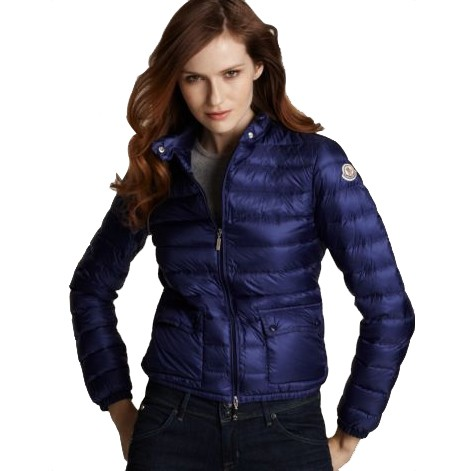 Moncler Short Leisure Blue Jacket Women