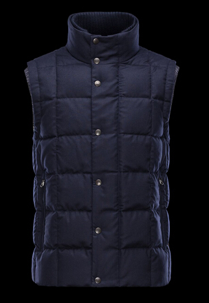 Moncler TENAY Men's Blue Sleeveless Vest