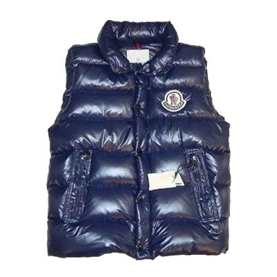 Moncler Tib Down Blue Vest Men
