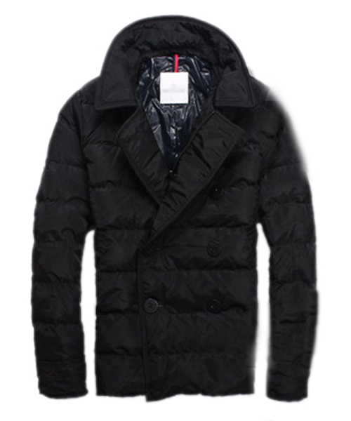 Moncler Down Jacket Handsome Men Button Black