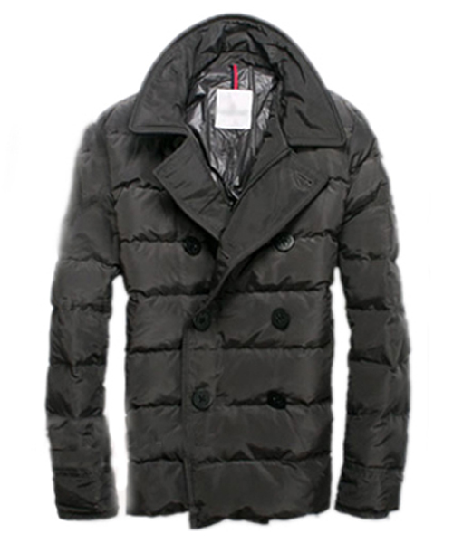 Moncler Down Jacket Handsome Men Button Grey