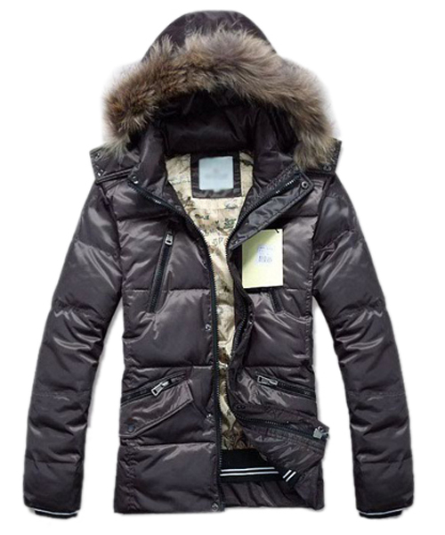 Moncler Down Jackets For Men Multi Zip Style Coffee