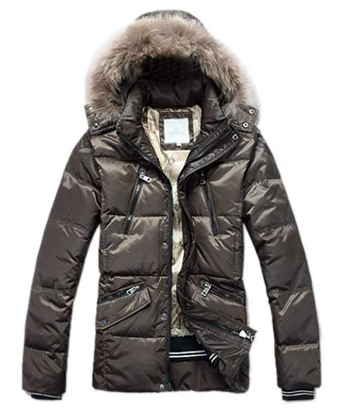 Moncler Down Jackets For Mens Multi Zip Style Army G