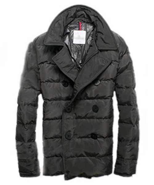 Moncler Down Jackets Handsome Mens Button Grey