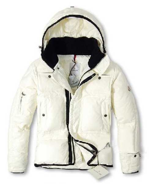 Moncler Down Jackets Mens With Hooded Zip White