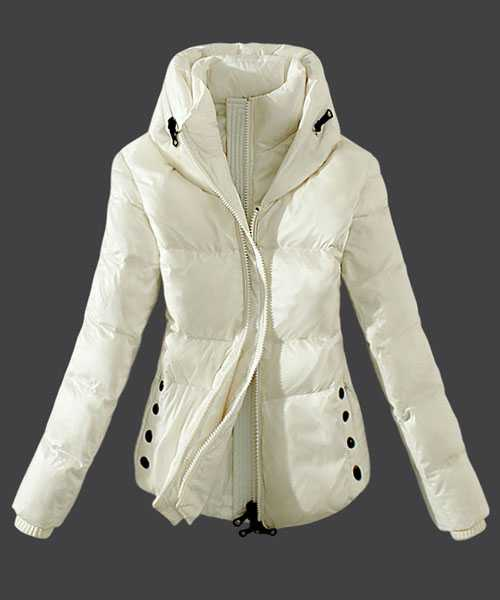 Moncler Women Down Jackets Zip White