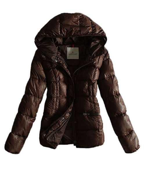 Moncler Women Jackets Hat Pure Color Coffee