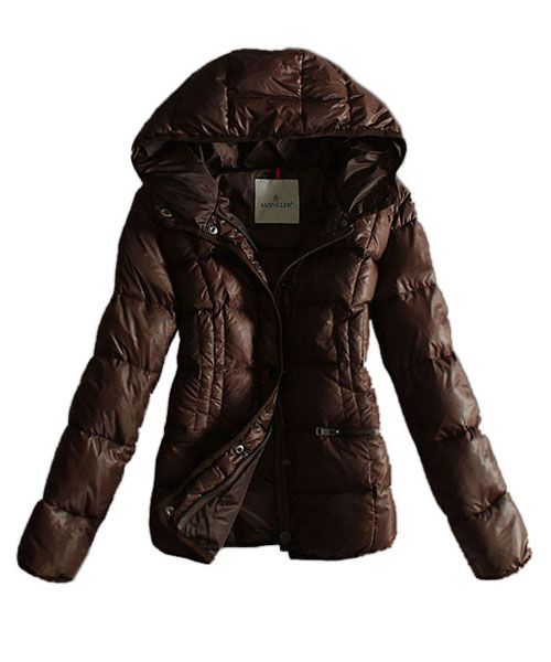 Moncler Womens Jackets Hat Pure Color Coffee